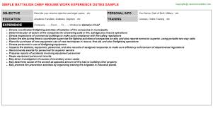 Business Objects Sample Resume by Battalion Chief Resumes Samples