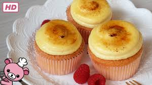 how to make creme brulee cupcake video youtube