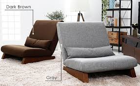 Modern Armless Sofa Floor Folding Single Seat Sofa Bed Modern Fabric Japanese Living