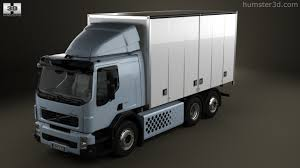 2011 volvo truck 360 view of volvo fe hybrid box truck 2011 3d model hum3d store