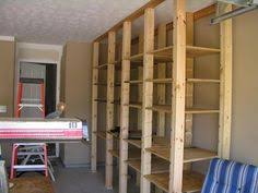 Wood Shelving Plans Garage by Diy Garage Shelving Ideas Shelves 3 4 U0027 Mdf Board Attached To