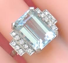 gorgeous vintage aquamarine and diamond estate rings u2013 gorgeous