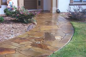 Painted Concrete Porch Pictures by Stamped Concrete Flagstone Pattern With Concrete The