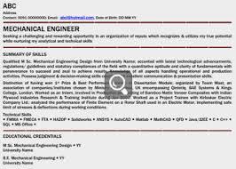 cv format for mechanical engineers freshers pdf converter resume mechanical engineer india krida info