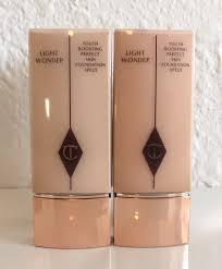 charlotte tilbury light wonder foundation swatches charlotte tilbury light wonder foundation 4 5 review swatches