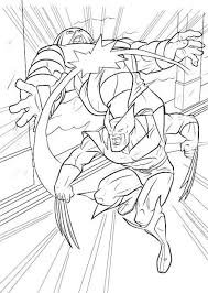 wolverine printable coloring pages x men super heroes coloring