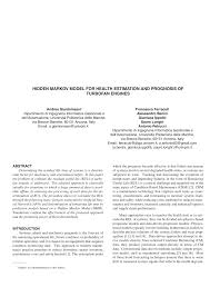 hidden markov model for health estimation and prognosis of