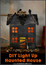 Paper Mache Ideas For Home Decor Diy Light Up Haunted House U2013 Easy And Fun Halloween Craft This