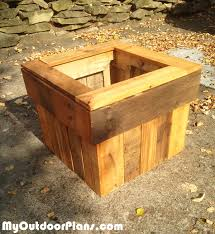 diy pallet wood planter box planter box plans pinterest