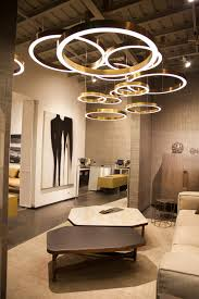direct indirect light aluminium pendant lamp golden ring by henge exclusive flagship store in istanbul turkey cote deco showroom the light fixtures