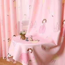 pureaqu pink princess curtains for kids bedding room curtain sears