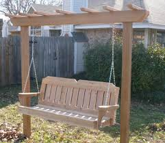 Backyard Swing Plans by Cedar Pergola Swing Plans U2014 Optimizing Home Decor Ideas Garden