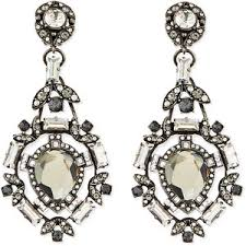 clip on chandelier earrings lanvin clear clip on chandelier earrings polyvore