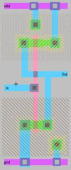 layout design cmos ee307 cmos buffer design layout project