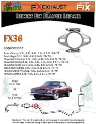 fx36 2 1 4 u0026 034 2 25 u0026 034 id exhaust flange formed oval side