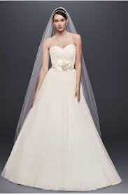 strapless ruched mermaid tulle wedding dress david u0027s bridal