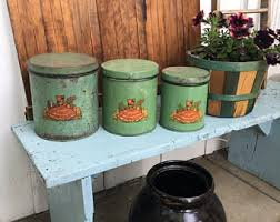 colorful kitchen canisters kitchen canisters etsy