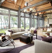 Home Living Room Designs by Sophisticated Transitional Style Lake House In Wisconsin Form