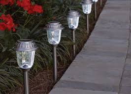 solar garden lights home depot outdoor pathway lighting hton bay solar path lights home depot