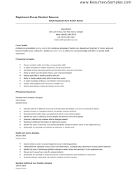 Registered Nurse Resume Sample by Resume Examples Avoid The Student Nurse Resume Template Of