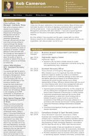 Sample Resume For Finance Manager by Business Analyst Resume Samples Visualcv Resume Samples Database
