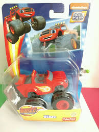 monster trucks tv show tv show blaze monster truck red die cast rolls action figure toy