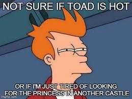 Futurama Fry Meme - toad is hot futurama fry meme 8 bit nerds