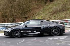 Audi R8 All Black - scoop new audi r8 shakes off most of its camouflage on the u0027ring