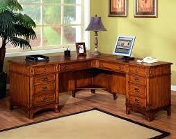 impressive adjustable height u shaped executive office desk whutch