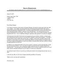 assistant manager cover letter sample assistant property manager
