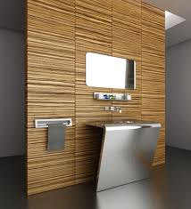 wood bathroom ideas decorations nature inspired use wood feature wall girlsonit
