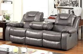 Grey Recliner Sofa Reclining Sofa With Table Winterclassic2017 Co