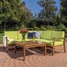 Outdoor Sofa Sets by Hermosa 6pc Outdoor Sofa Set W Cushions U2013 Noble House Furniture
