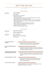 Grocery Store Resume Sample by Bagger Resume Samples Visualcv Resume Samples Database