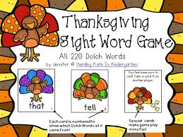 71 best thanksgiving sight word plans images on word