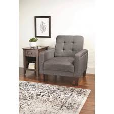 linen chair better homes and gardens porter chair gray linen walmart