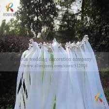 wedding wands 50pcs of lace wedding ribbon wands wedding confetti twiring