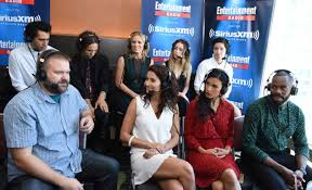 new walking dead cast 2016 ew radio at comic con in san diego aliens the walking dead and so