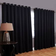 Short Wide Window Curtains by Blackout Window Treatments Designs Ideas