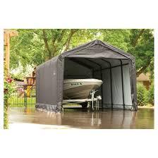 sheltertube 12 u0027 x 20 u0027 x 11 u0027 peak style garage shelter gray