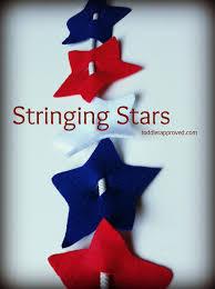 toddler approved stringing stars