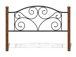 Iron And Wood Headboards Fashion Bed Group Wood And Metal Beds Twin Doral Headboard