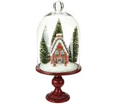illuminated holiday scenes under glass by valerie page 1 u2014 qvc com