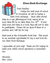 holiday book exchange letter classroom celebrations pinterest