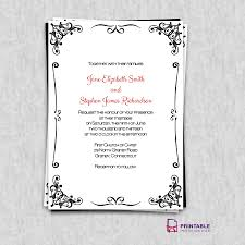 Borders For Wedding Invitation Cards Free Pdf Invitations Retro Border Wedding Invitation Easy To