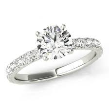 Solitaire Wedding Rings by 7 5mm 1 50 Carat Forever One Moissanite U0026 Diamond Solitaire