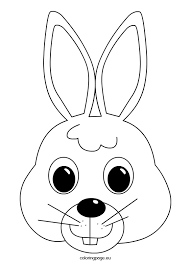 rabbit face coloring mabelmakes