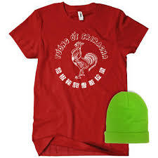 sriracha bottle cap sriracha costume t shirt and hat combo textual tees