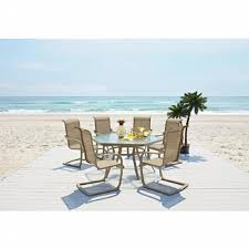 Oasis Outdoor Patio Furniture Garden Oasis Long Beach 7 Piece Patio Dining Set Limited