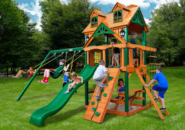 Playsets Outdoor Exterior Interesting Outdoor Playground Design With Oak Wood